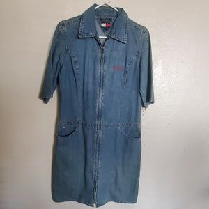 Jean zip up dress (90's) Style